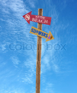 wooden post nude beach and showers