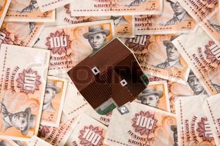 Billede af 'danmark, pengesedler, finanskrisen'