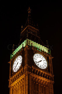 London's Big Ben at night