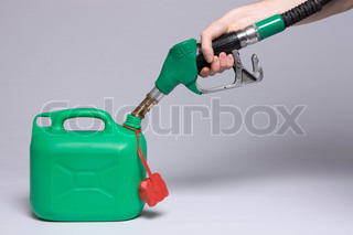 Gasoline being pumped into a canister