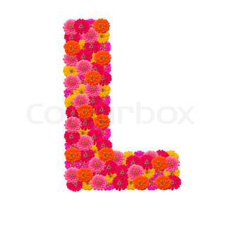 Zinnias flower letter