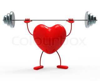 Weights Fitness Indicates Heart Shapes And Exercise