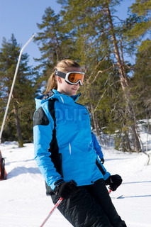 Skiing at Kongsberg ski center Norway.
