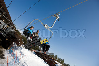 Ski lift at Kongsberg ski center Norway.
