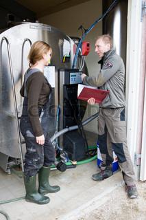 Farmer receives instructions
