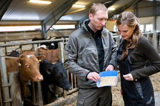 Farmer receive instructions