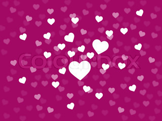 Bunch Of Hearts Background Shows Loving Couple Or Passionate Marriage