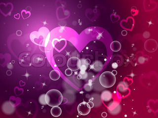 Hearts Background Shows Passion  Love And Romance