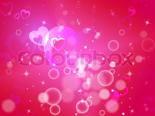 Hearts Background Means Shiny Hearts Wallpaper Or Romanticism