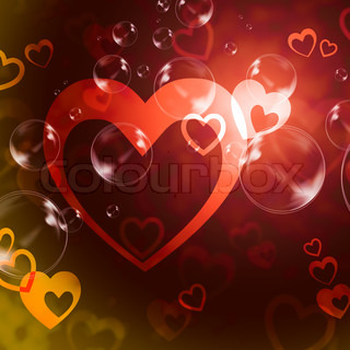 Hearts Background Means Romance  Love And Passion