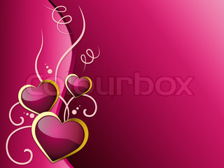 Hearts Background Shows Romantic And Passionate Love