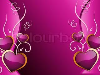 Hearts Background Means Romance  Attraction And Wedding