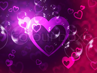 Hearts Background Shows Romantic Relationship And Marriage