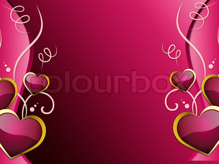 Hearts Background Shows Romantic Wallpaper Or Passionate Love