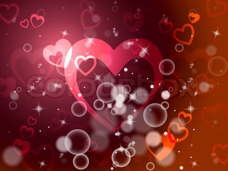Hearts Background Means Romantic Wallpaper Or Background