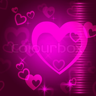 Hearts Background Means Love  Passion And Romanticism