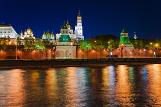 Kremlin in Moscow at night