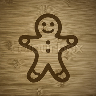 Gingerbread cookies icon Flat with abstract background