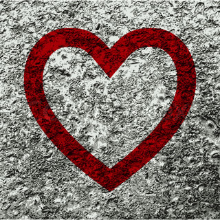 Heart icon Flat with abstract background