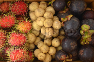 Thai fruit in box