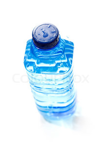 Top view of bottled water