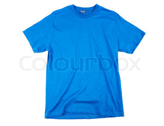 Blue tshirt template ready for your own graphics