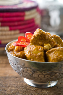 Traditional Indian food with chili