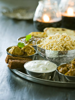 Selection of traditional Indian food