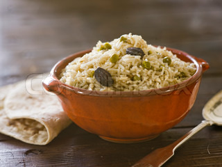 Bowl of cooked basmati rice