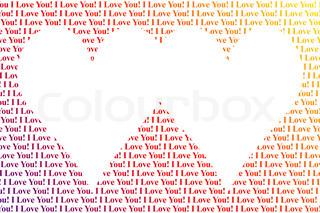Hearts shaped words I Love You