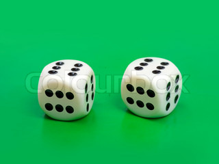 Two gambling dices - only six