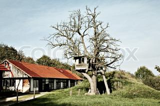 Billede af 'legeplads, huse, græs'