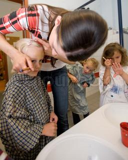 Image of 'teacher, happy, child'
