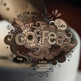 Vector of 'lettering, coffee, hand'