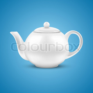 Classic chinese teapot of brown clay over bamboo mat stock ...