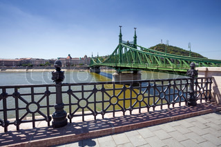 View of Liberty Bridge over Danube, Budapest