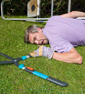 Travailler autrement to work differently stock photo for Big scissors for gardening