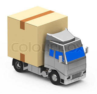Box on a truck