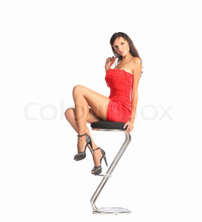 Can not Girl on bar stool
