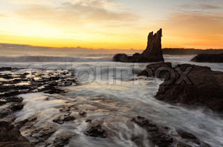 Sunrise Cathedral Rock, South Coast, Australia