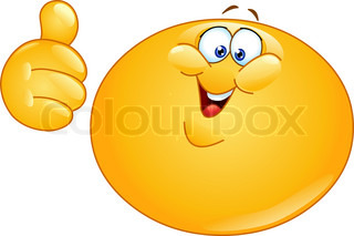 Chinese emoticon with thumb up stock vector