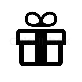 Pics For > Gift Icon Black And White