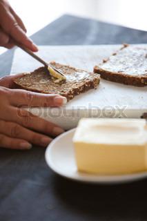 Billede af 'brød, indendørs, closeup'