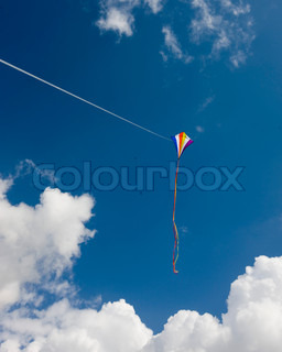 Kite flying on a hot summer day