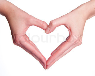 Image of 'hand, hand signal, love'