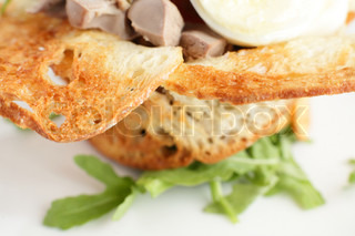 tasty meat on white background