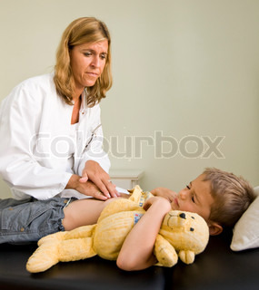 Image of 'doctor, children, medical examination'