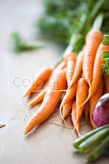 Auswahl an frischem Bio-Gemüse