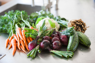 Selection of organic vegetables