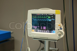 Patients Monitor in Intensive Care Unit on hospital